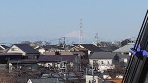 久我山C棟からの富士山